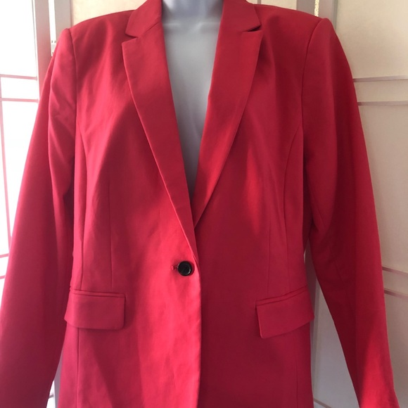 Worthington Jackets & Blazers - Raspberry pink power blazer size 16